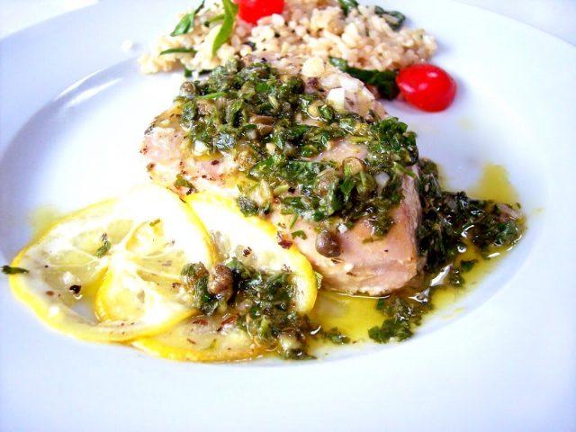 Wine & Garum Sauce Tuna Grilled Fish