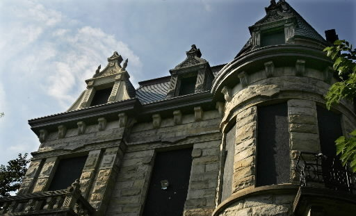 Cleveland Haunted Places Ohio Tiedemann House (Franklin Castle)