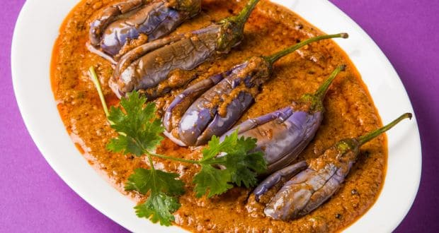 Eggplant Baigan Valo – Steamed with Spicy Stuffing