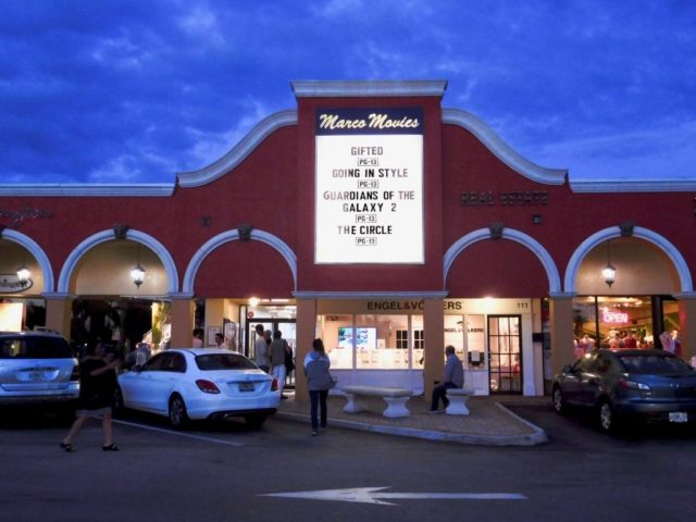 Marco Island Florida Watch a Movie at Night