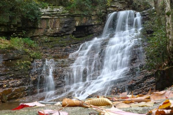 Marguerite Waterfalls in Tennessee