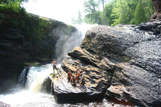 Michigan Rainbow Falls Ironwood Gogebic County
