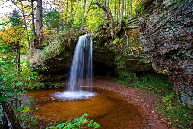Michigan Scott Waterfalls Alger County