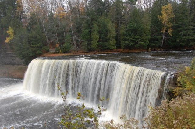 Michigan Waterfalls Tahquamenon Paradise Upper Peninsula