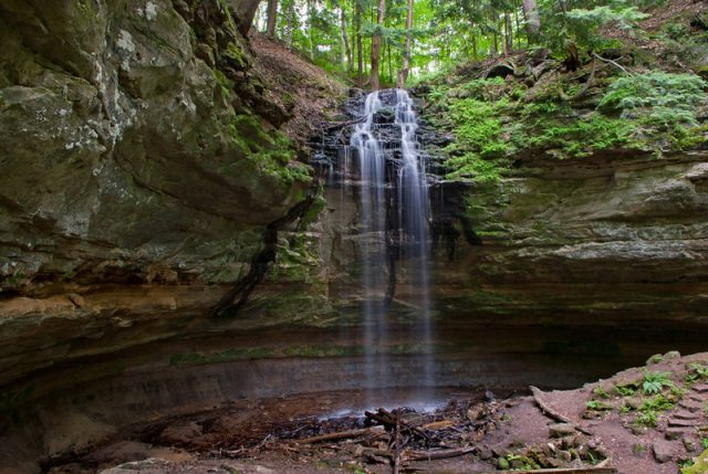 Michigan Waterfalls in Olson Memorial Munising