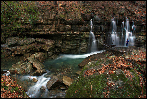 Middle Creek Waterfalls in Tennessee