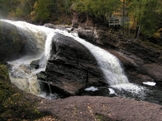 Rainbow Waterfalls in Michigan Ironwood Gogebic County