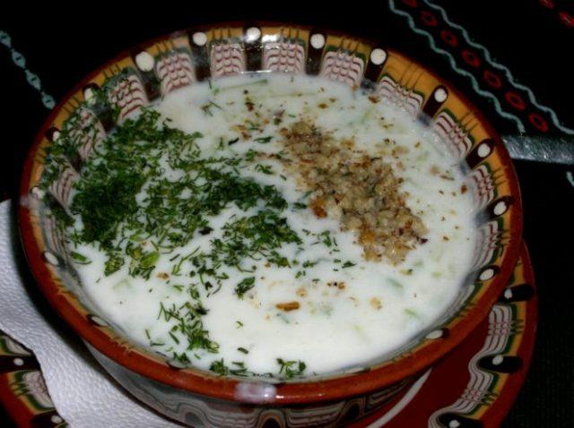 Tarator Albanian Soup Appetizer