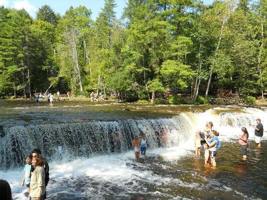 Waterfalls in Michigan Tahquamenon Upper Peninsula