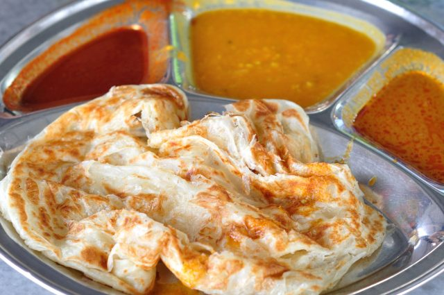 Breakfast Roti Canai Indian Malaysian Flatbread