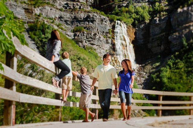Bridal Veil Falls Provo Utah County Hiking Trails