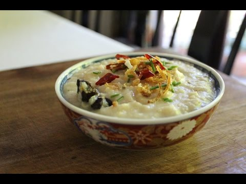 Bubur Nasi Malaysian Rice Chicken Porridge Foods