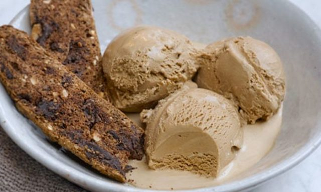 Ethiopian Coffee – Baked Cake Dish with Ice Cream
