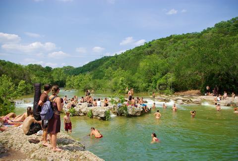Hiking Trails Barton Creek Greenbelt Austin Texas Hill Country