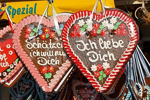 Lebkuchenhertz Traditional German Desserts Oktoberfest
