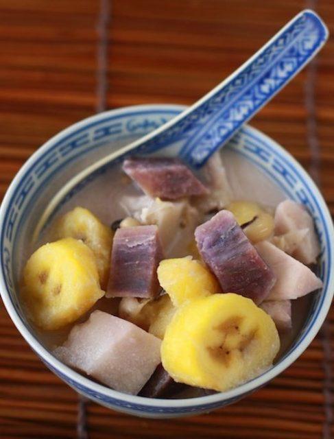 Malaysian Breakfast Dessert Snack Bubur Cha Cha
