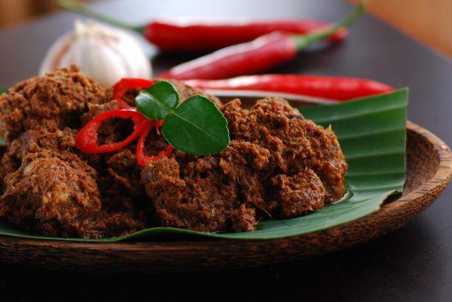 Malaysian Food Rendang Meat Dish