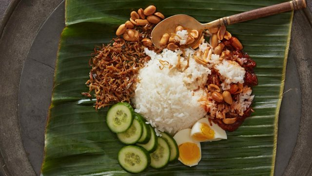 National Dish Nasi Lemak Malaysian Street Food
