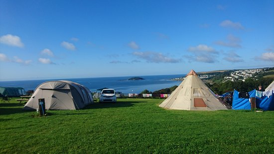 Bay View Farm Camping in Looe Bay Cornwall