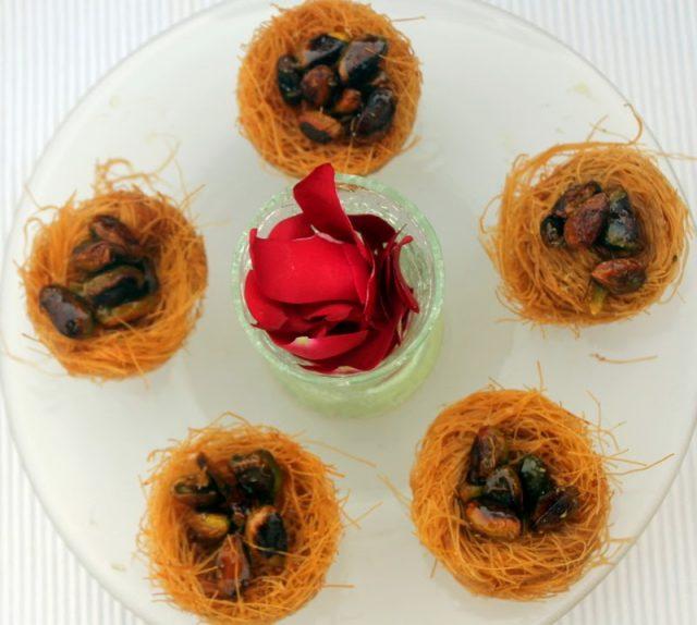 Birds Nest Cup Cake Honey & Semolina Dessert