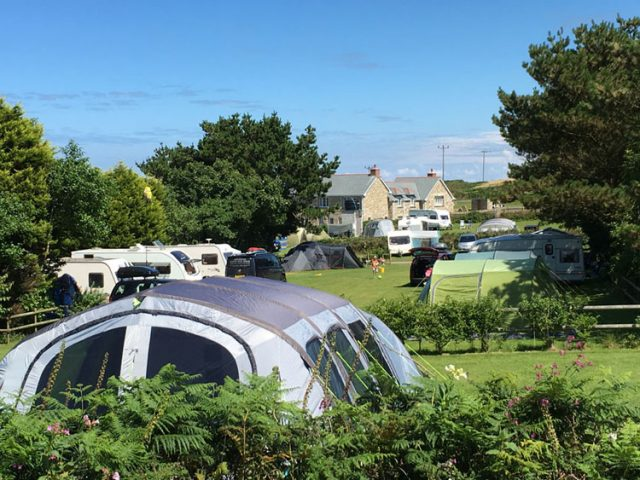 Higher Penderleath Cool Camping Park in Cornwall