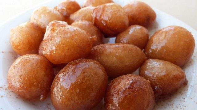 Loukoumades Donuts with Honey and Walnuts
