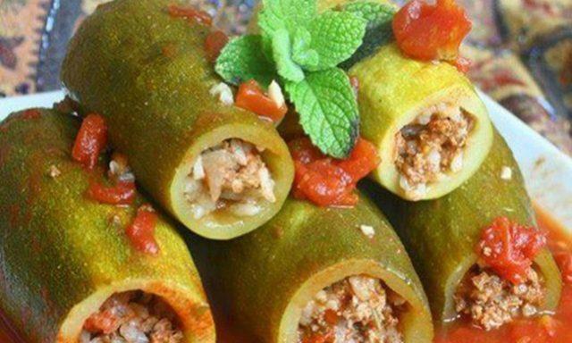 Meat-stuffed Zucchini Kusa Mahshi