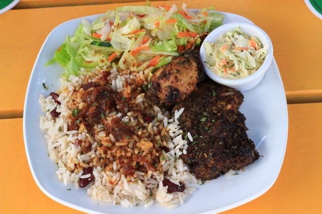 Rice and Peas Food in Barbados