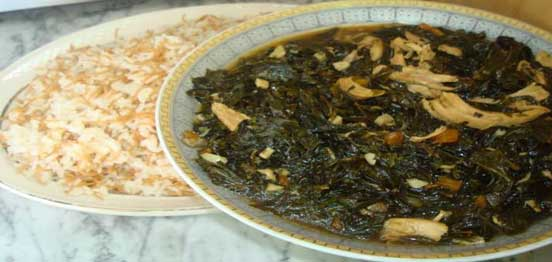 Syrian Molokhia Traditional Meat Soup