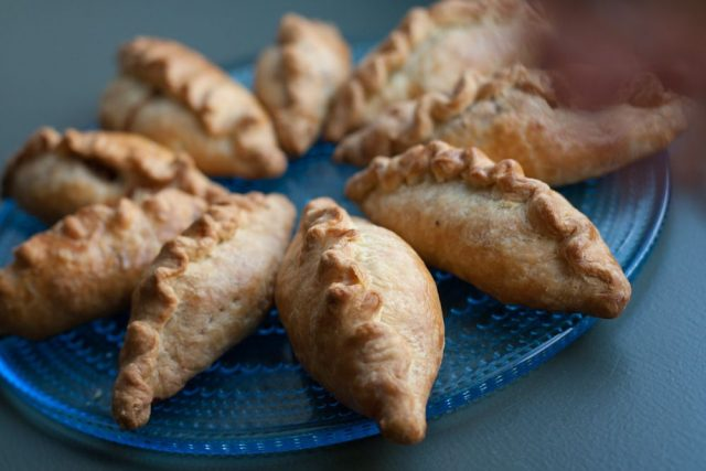 Traditional Kibinai Meat Pies Lithuanian Food