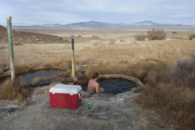Alkali Hot Springs in Nevada