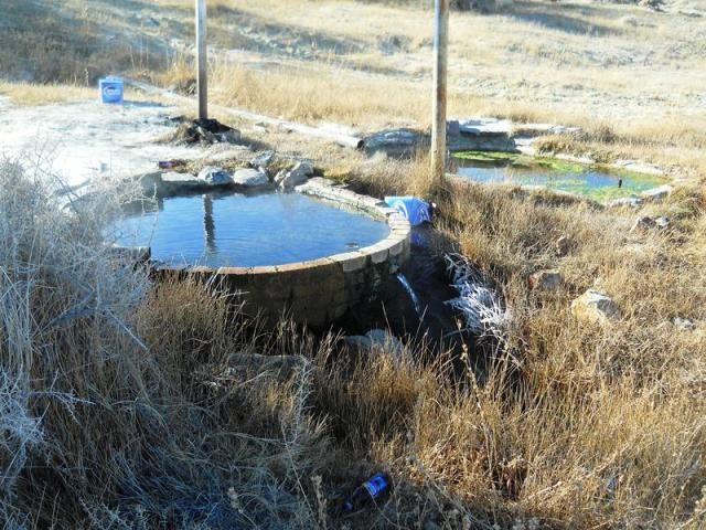 Natural Alkali Hot Springs in Nevada