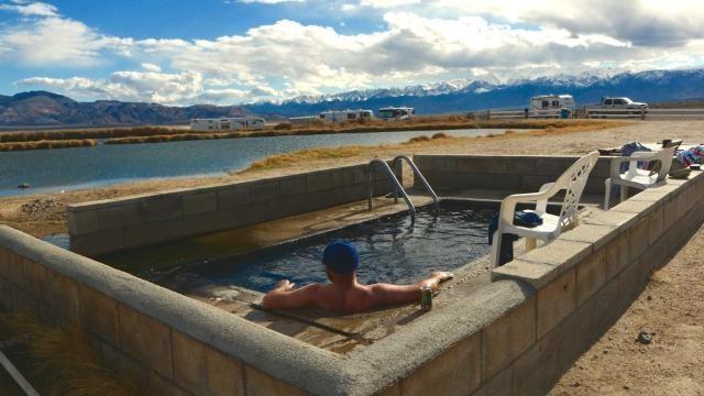 Natural Fish Lake Valley Hot Springs in Nevada