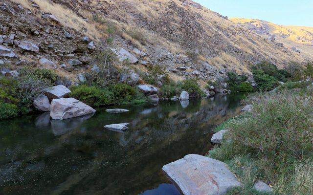 Natural Pyramid Island Hot Springs in Nevada