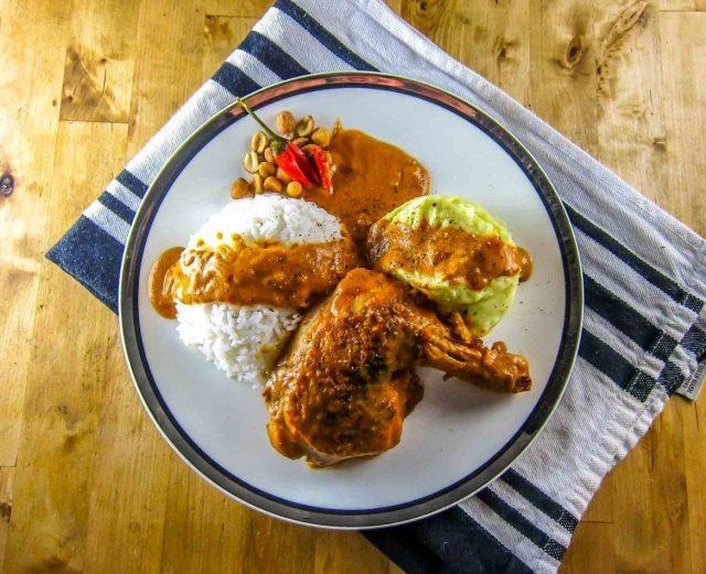 Poulet à la Moambé Congolese Food