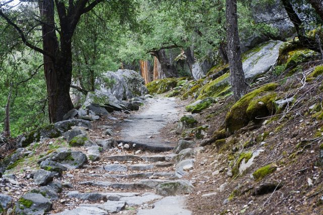 Happy Isles Trail Merced River Yosemite Hiking