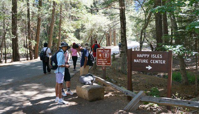 Happy Isles Yosemite Hiking Trail Merced River