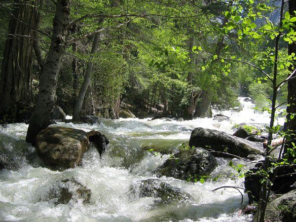 Happy Isles Yosemite Hiking Trail River Merced