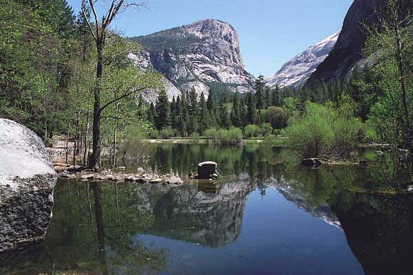 Mirror Lake Tenaya Canyon Yosemite Hiking Trail