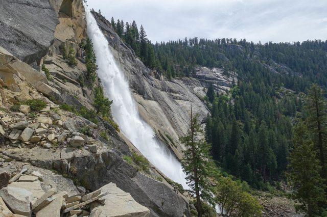 Mist Trail Vernal and Nevada Falls Yosemite Hiking Trail