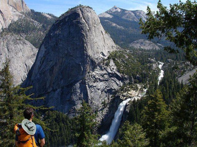 Panorama Yosemite Hiking Trail Trailhead