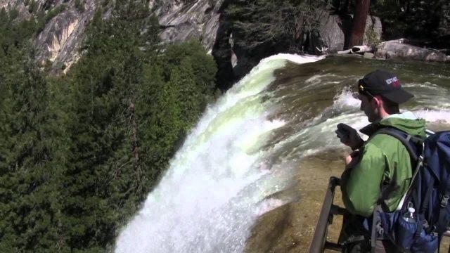 Yosemite Hiking Trail Mist Trail Vernal and Nevada Falls