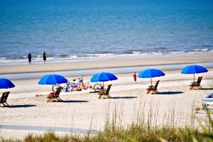 Beaches in Georgia, USA