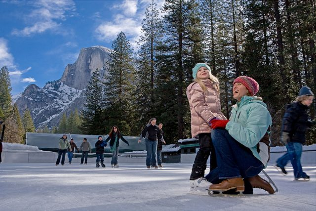 Half Dome Village Ice Skating Rink Best Weekend Trips From San Francisco