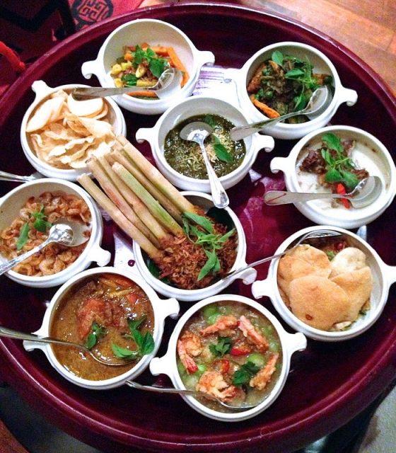 Rijstaffel Dutch-Indonesian Assorted Foods Dishes