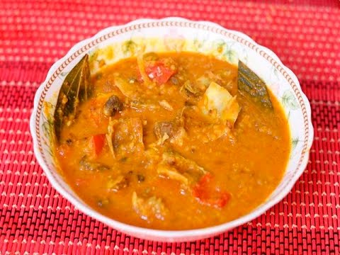 Yellow Lentil with Fish Head Bangladeshi Food