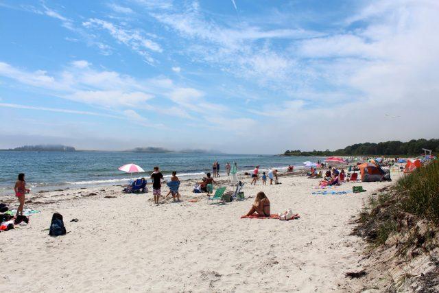 Crescent Beach State Park in Maine