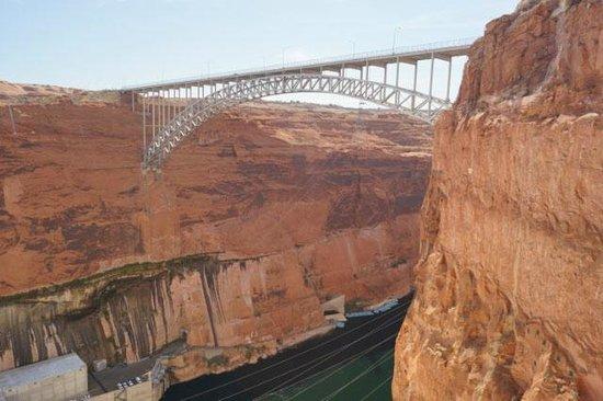 Glen Canyon Dam Bridge Tallest in America