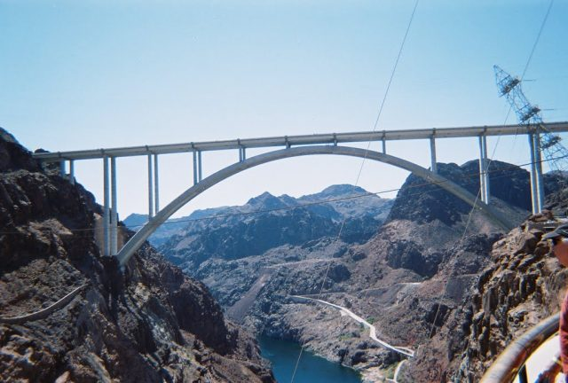 Mike O'Callaghan–Pat Tillman Memorial Bridge Tallest in the United States
