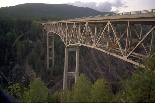 Moyie River Canyon Bridge Tallest in America